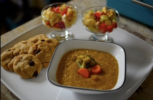 soup fruit cookies